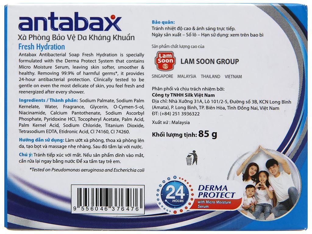 Xà phòng kháng khuẩn Antabax Fresh sảng khoái 85g 2
