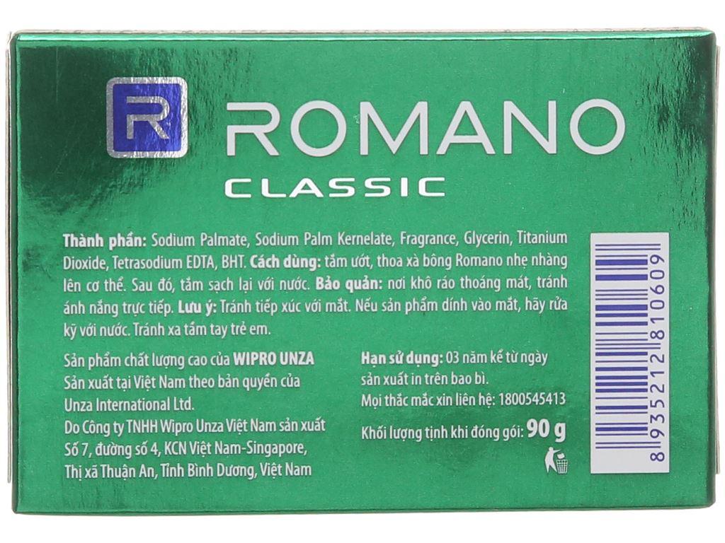 Xà bông thơm Romano Classic 90g 3