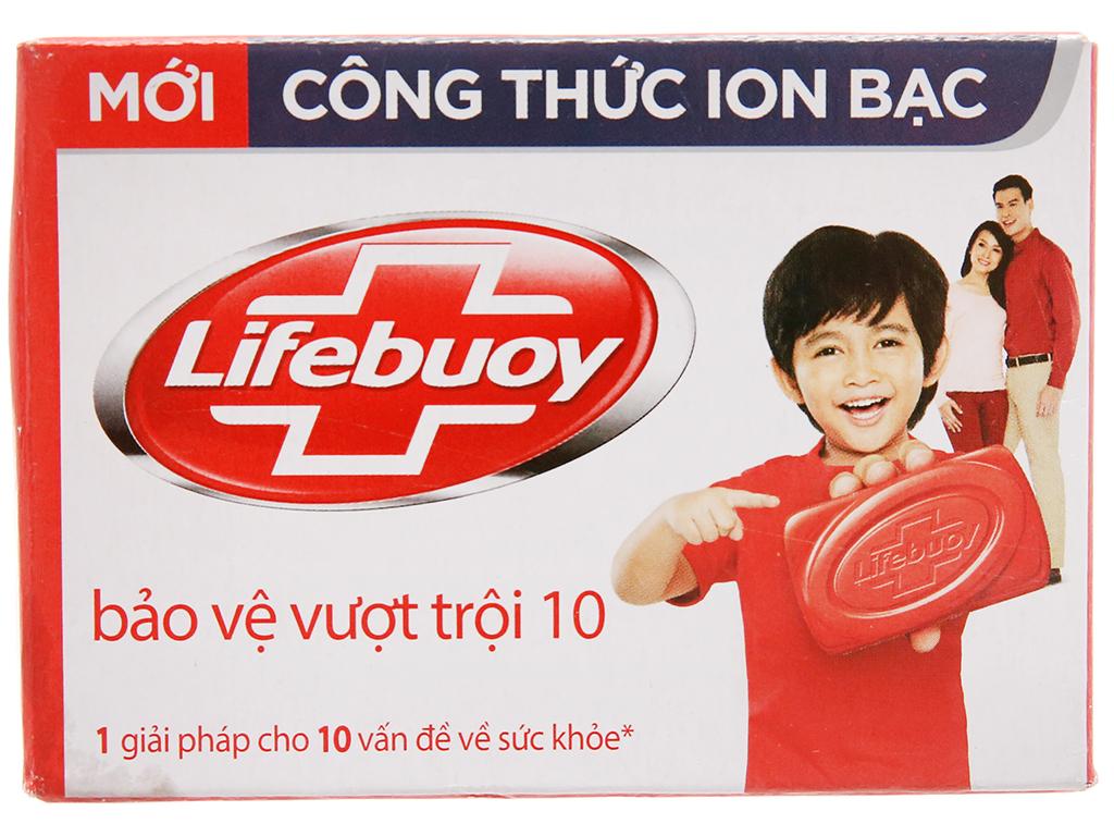 Xà bông cục Lifebuoy bảo vệ vượt trội 10 90g 2