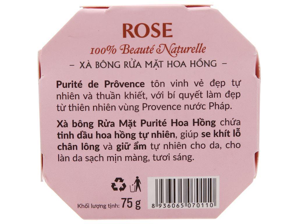 Xà bông rửa mặt Purité By Provence hoa hồng 75g 3