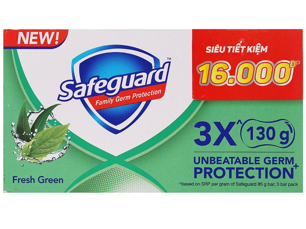 3 cục xà phòng Safeguard thảo mộc thơm mát 130g/cục 4