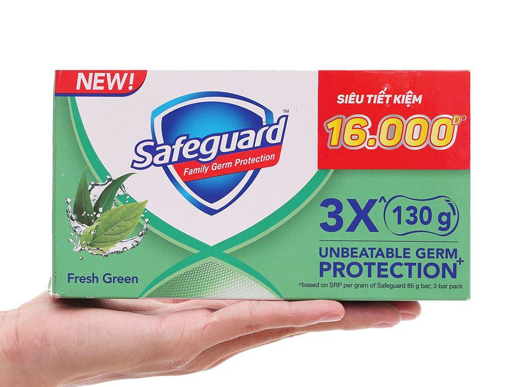 3 cục xà phòng Safeguard thảo mộc thơm mát 130g/cục 8