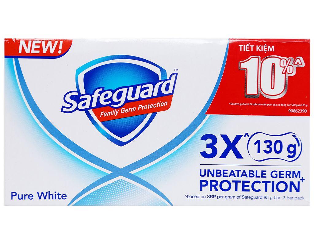 3 cục xà phòng Safeguard Pure White diệt khuẩn 130g/cục 6