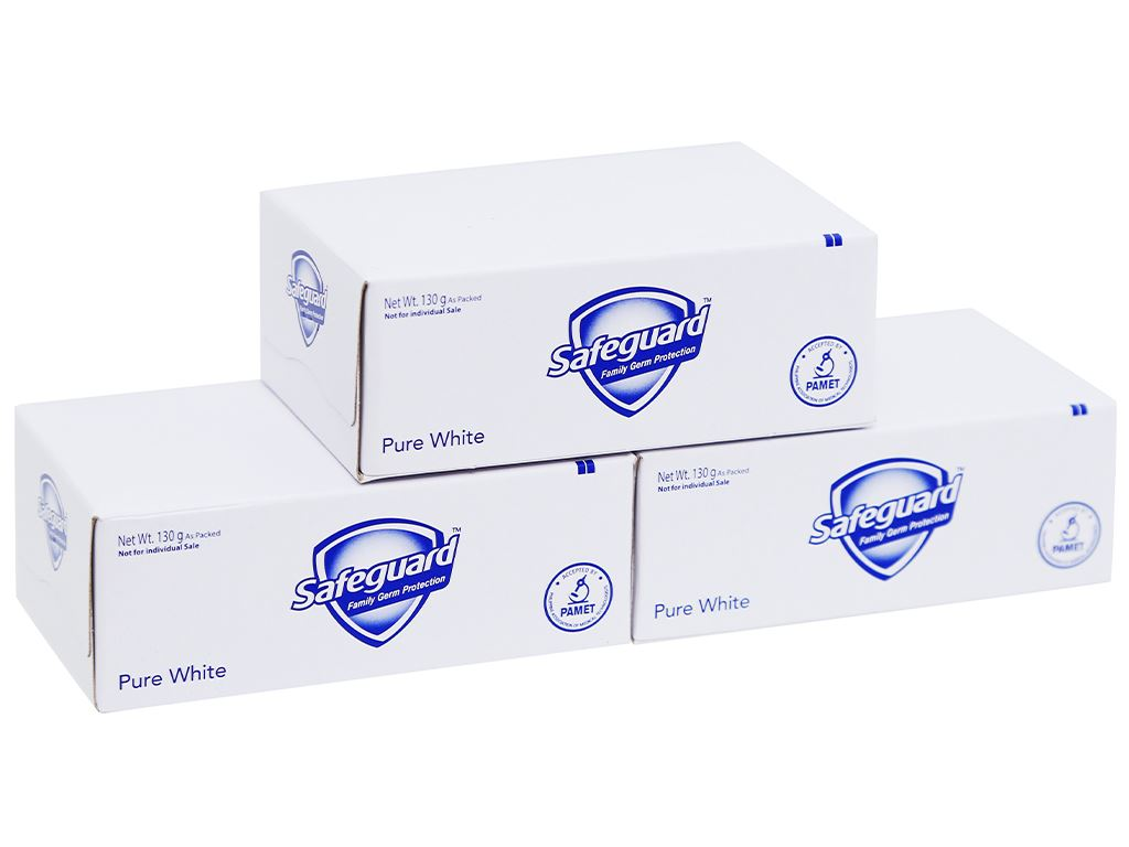 3 cục xà phòng Safeguard Pure White diệt khuẩn 130g/cục 5