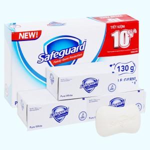 3 cục xà phòng Safeguard Pure White diệt khuẩn 130g/cục