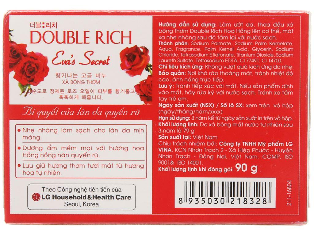 Xà bông thơm Double Rich Eva's Secret hoa hồng 90g 3