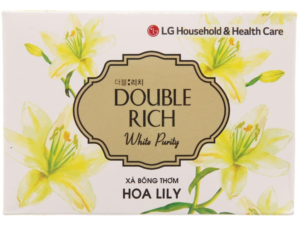 Xà bông thơm Double Rich White Putity hoa Lily 90g 1