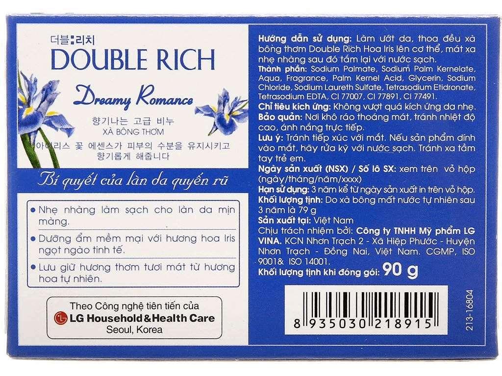 Xà bông thơm Double Rich Dreamy Romance hoa Iris 90g 3
