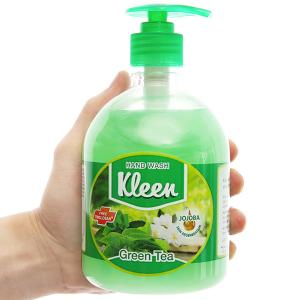 Nước rửa tay Kleen hương trà xanh chai 500ml