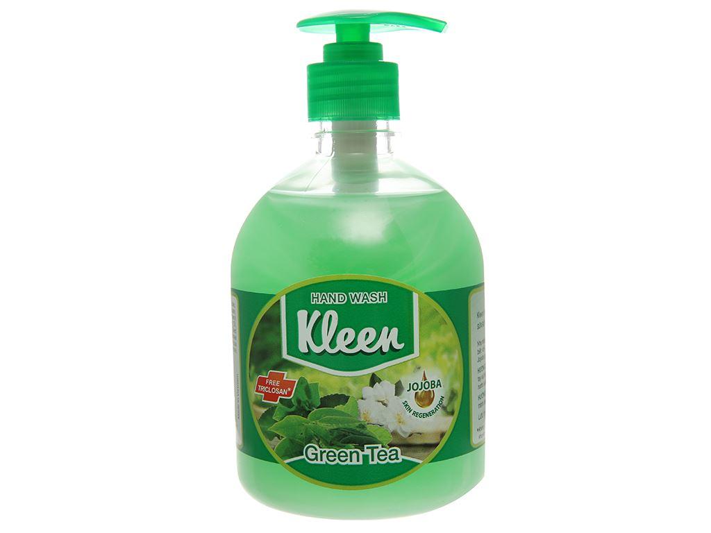 Nước rửa tay Kleen hương trà xanh chai 500ml 2