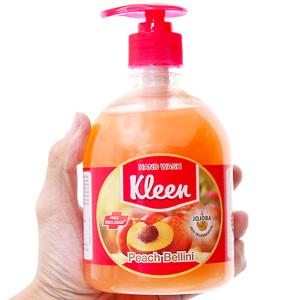 Nước rửa tay Kleen hương đào chai 500ml
