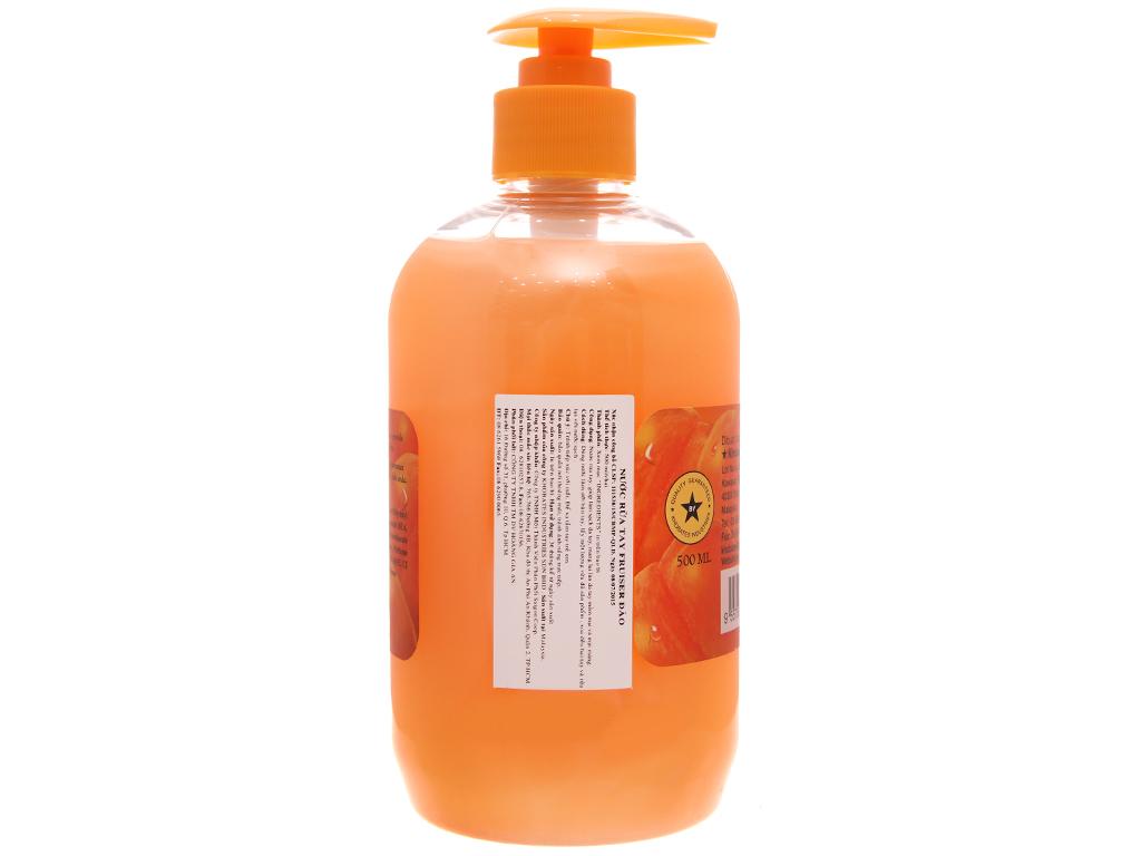 Nước rửa tay Fruiser hương đào chai 500ml 3