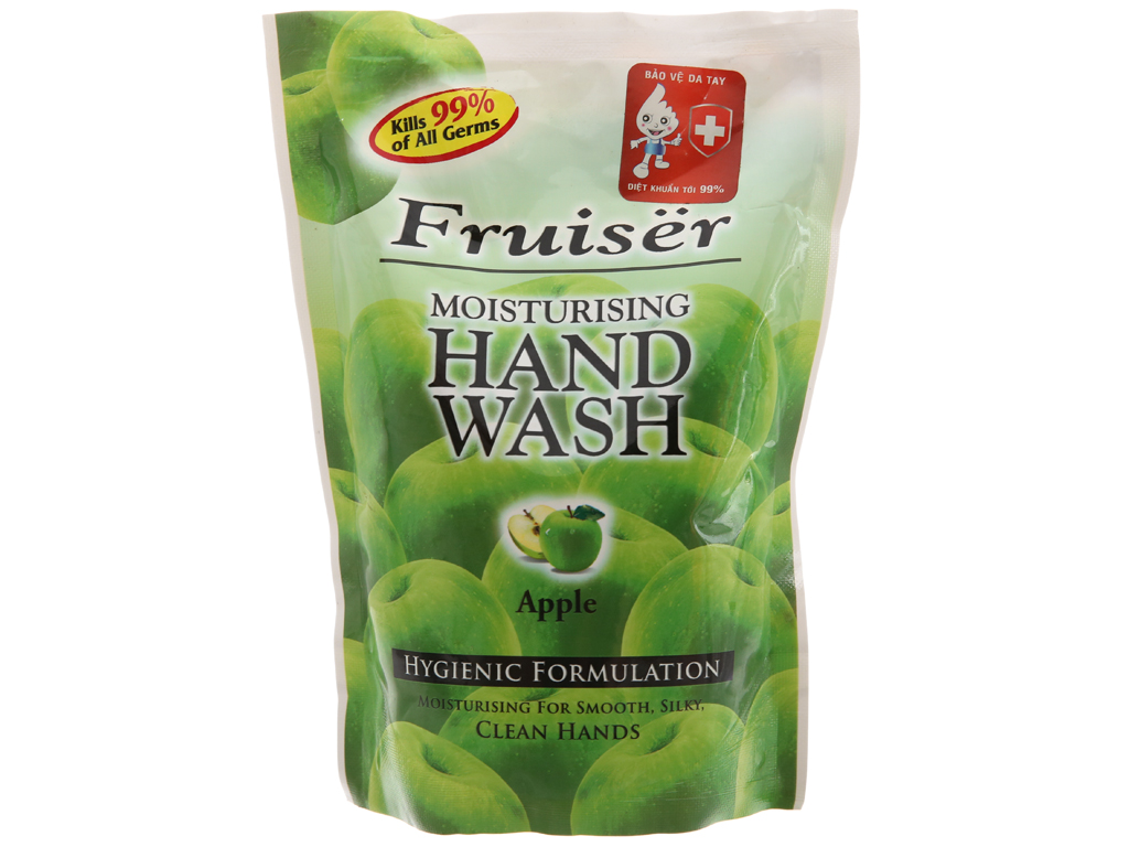Nước rửa tay Fruiser hương táo chai 500ml 2