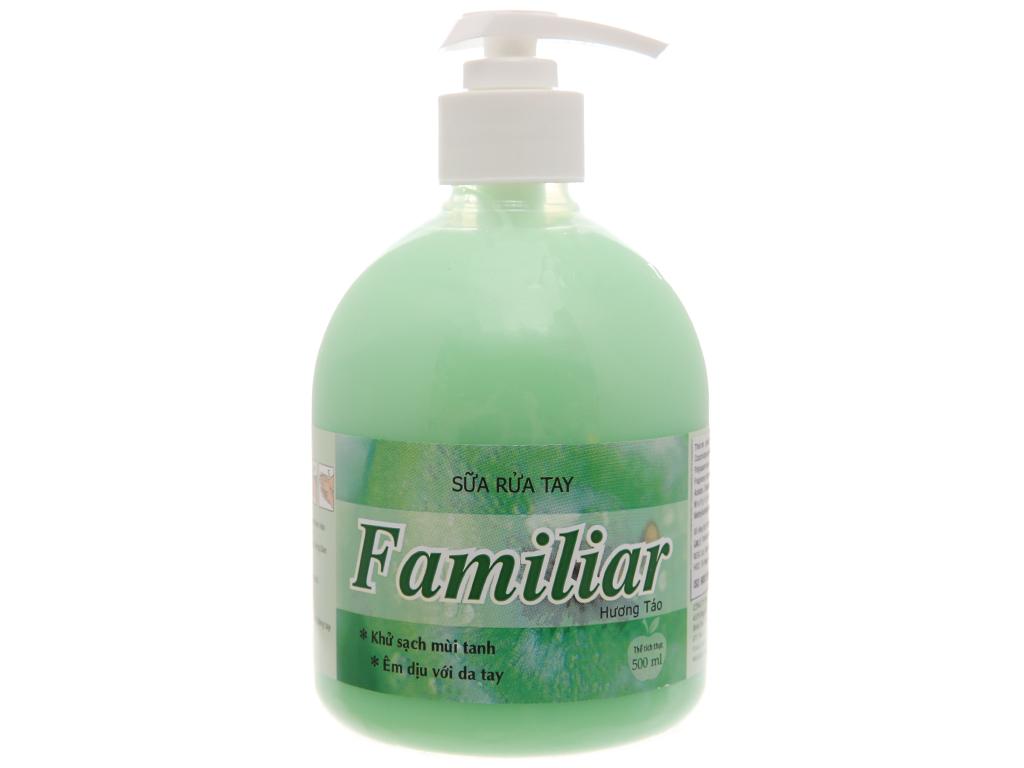 Sữa rửa tay Familiar hương táo chai 500ml 2