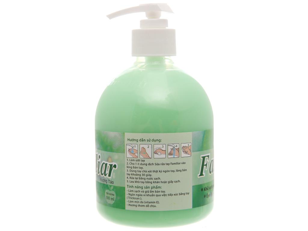 Sữa rửa tay Familiar hương táo chai 500ml 3
