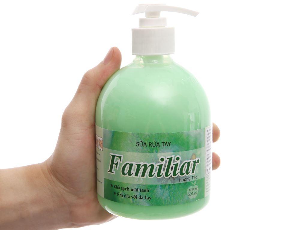 Sữa rửa tay Familiar hương táo chai 500ml 5
