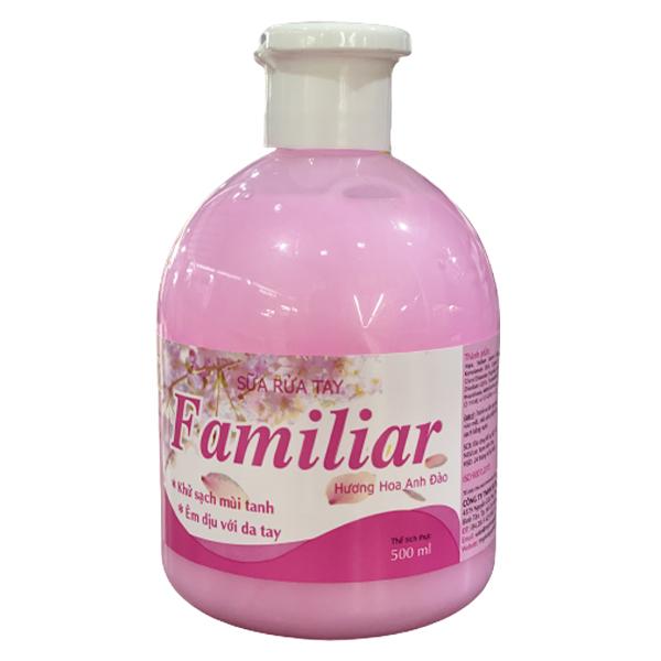 Sữa rửa tay Familiar hương anh đào chai 500ml