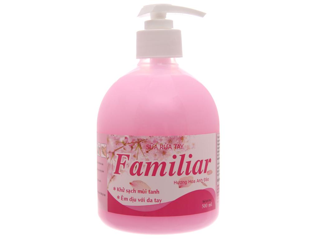 Sữa rửa tay Familiar hương anh đào chai 500ml 2