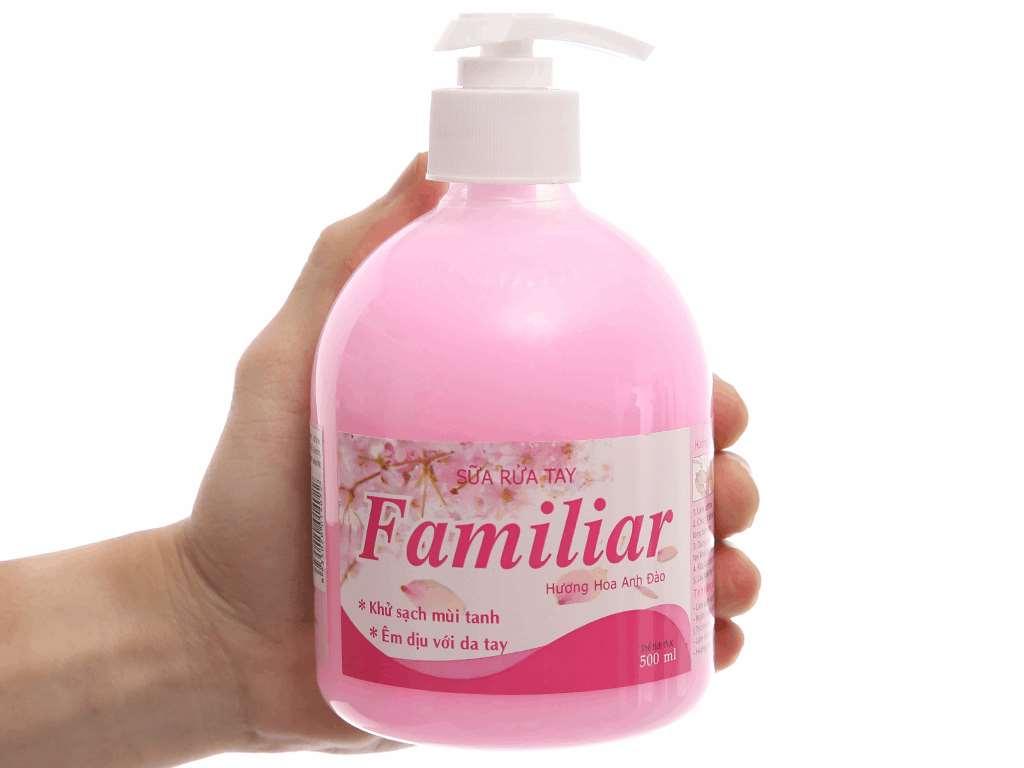 Sữa rửa tay Familiar hương anh đào chai 500ml 4