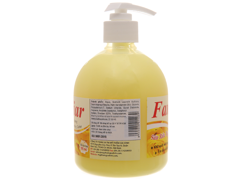 Sữa rửa tay Familiar Blooming Love hương Blooming Love chai 500ml 3