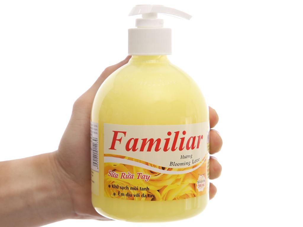 Sữa rửa tay Familiar Blooming Love hương Blooming Love chai 500ml 4