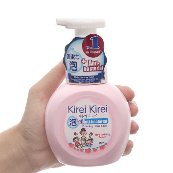 Bọt rửa tay Kirei Kirei hương đào chai 250ml