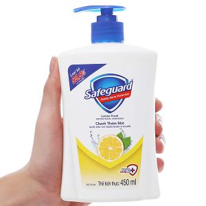 Nước rửa tay Safeguard chanh thơm mát chai 450ml