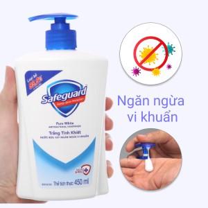 Nước rửa tay Safeguard trắng tinh khiết chai 450ml