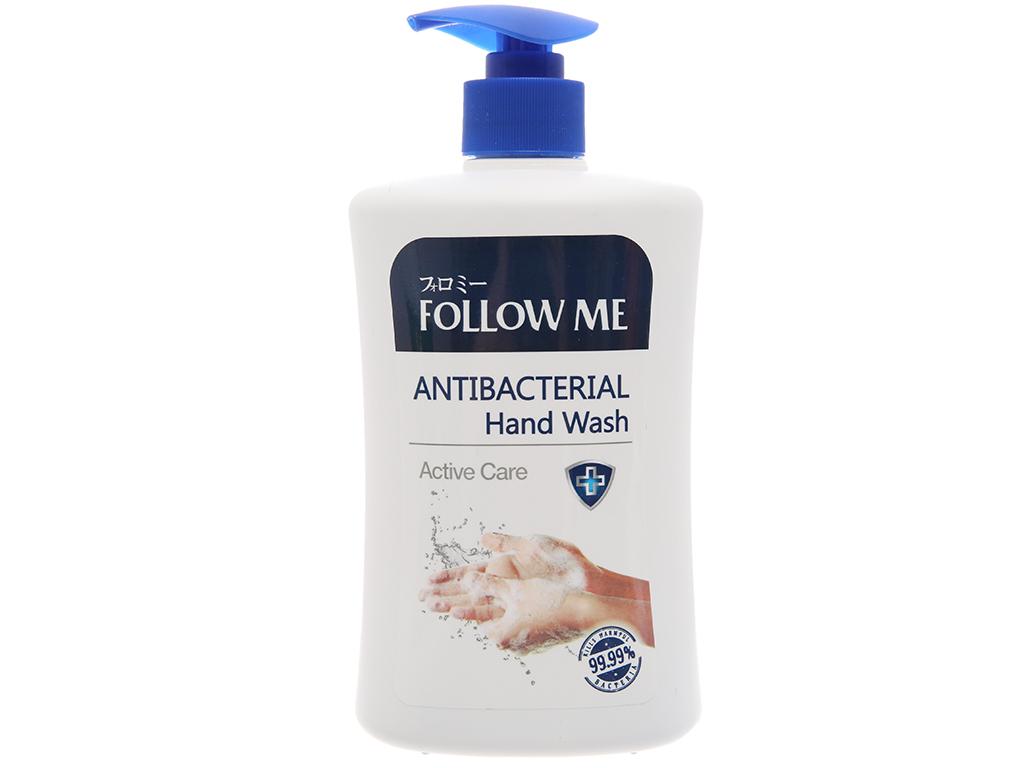 Sữa rửa tay kháng khuẩn Follow Me Active Care chai 450ml 2
