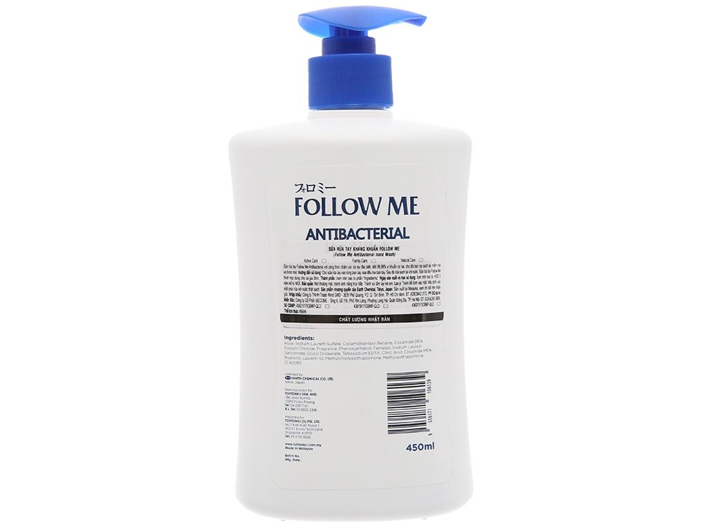 Sữa rửa tay kháng khuẩn Follow Me Active Care chai 450ml 3