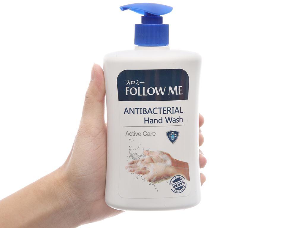 Sữa rửa tay kháng khuẩn Follow Me Active Care chai 450ml 4