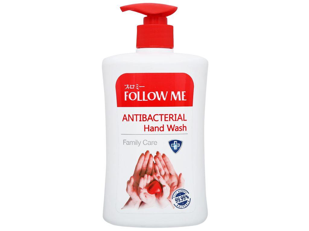 Sữa rửa tay kháng khuẩn Follow Me Family Care chai 450ml 1