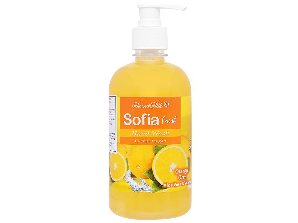 Nước rửa tay Sofia hương cam chai 500ml 6