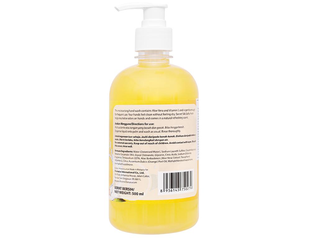 Nước rửa tay Sofia hương cam chai 500ml 7