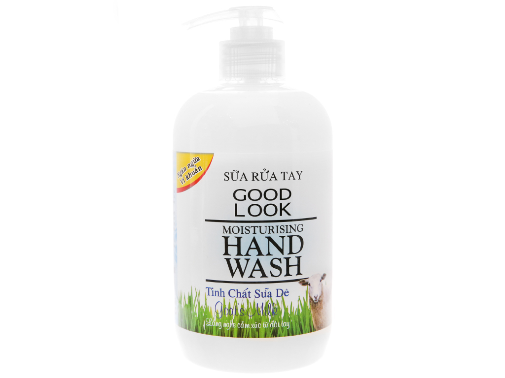 Sữa rửa tay Goodlook dưỡng da hương sữa dê chai 500ml 1
