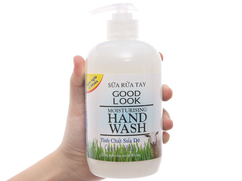 Sữa rửa tay Goodlook dưỡng da hương sữa dê chai 500ml 3