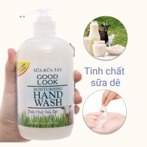 Sữa rửa tay Goodlook dưỡng da hương sữa dê chai 500ml