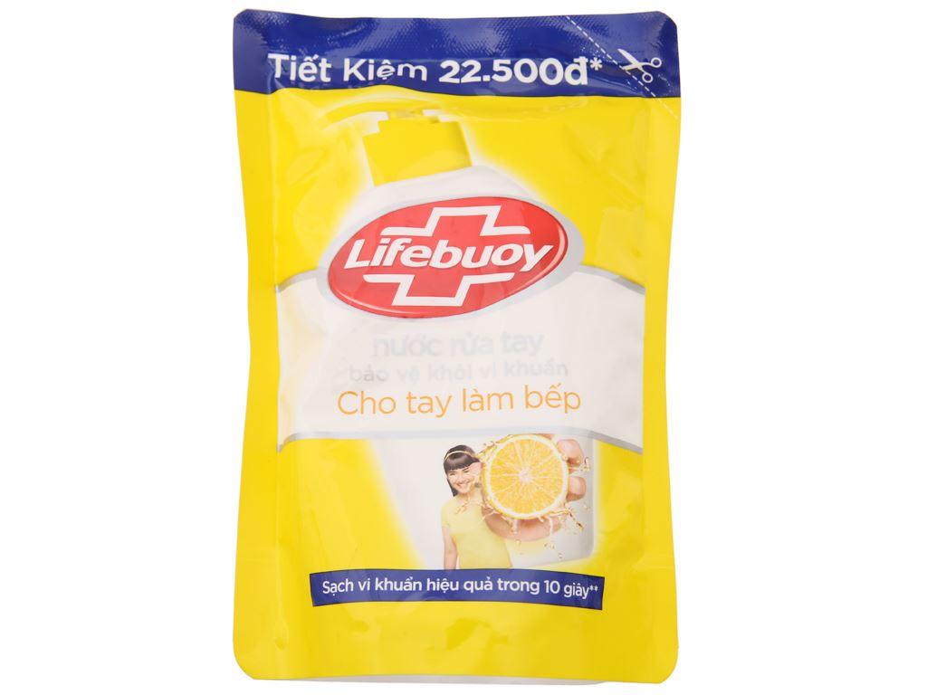 Nước rửa tay Lifebuoy cho tay làm bếp túi 443ml 1