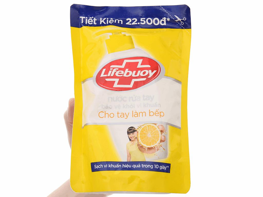 Nước rửa tay Lifebuoy cho tay làm bếp túi 443ml 3