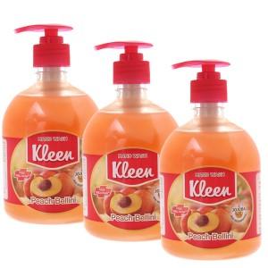 Combo 3 chai nước rửa tay Kleen hương đào 500ml