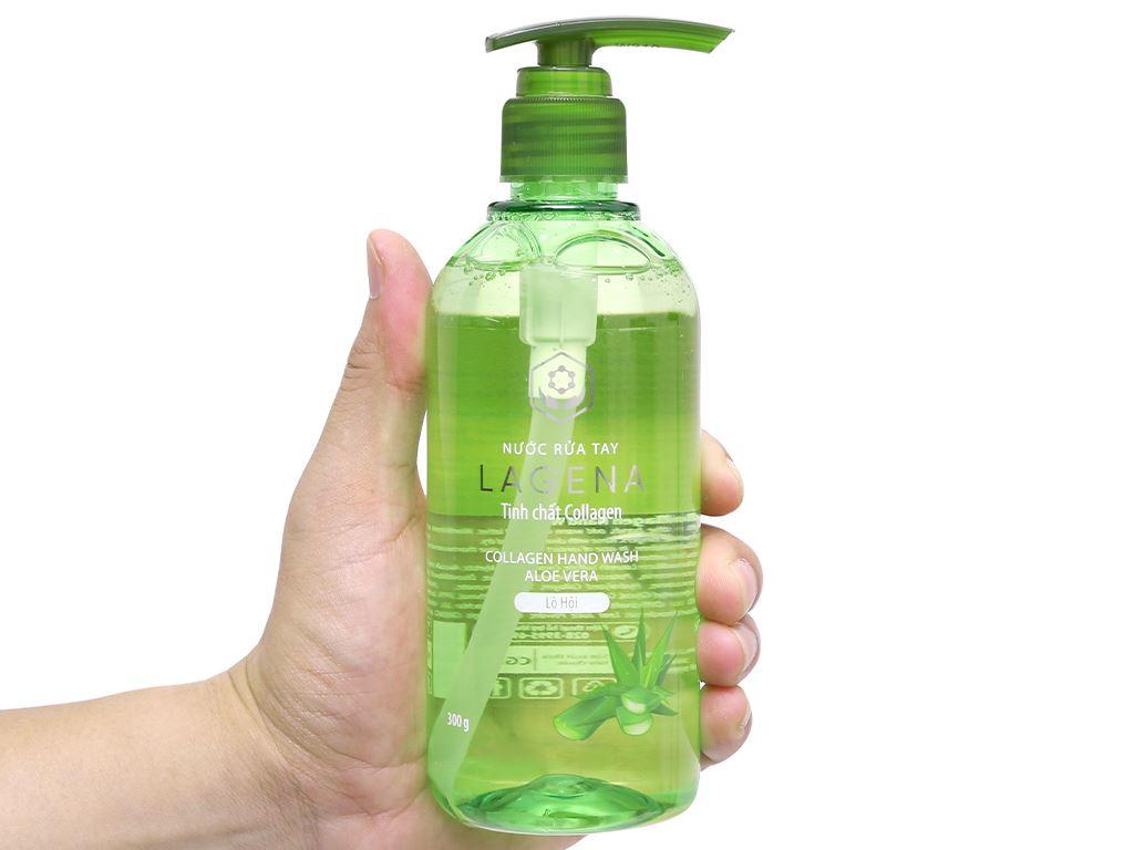 Nước rửa tay tinh chất collagen Lagena hương lô hội chai 300g 4