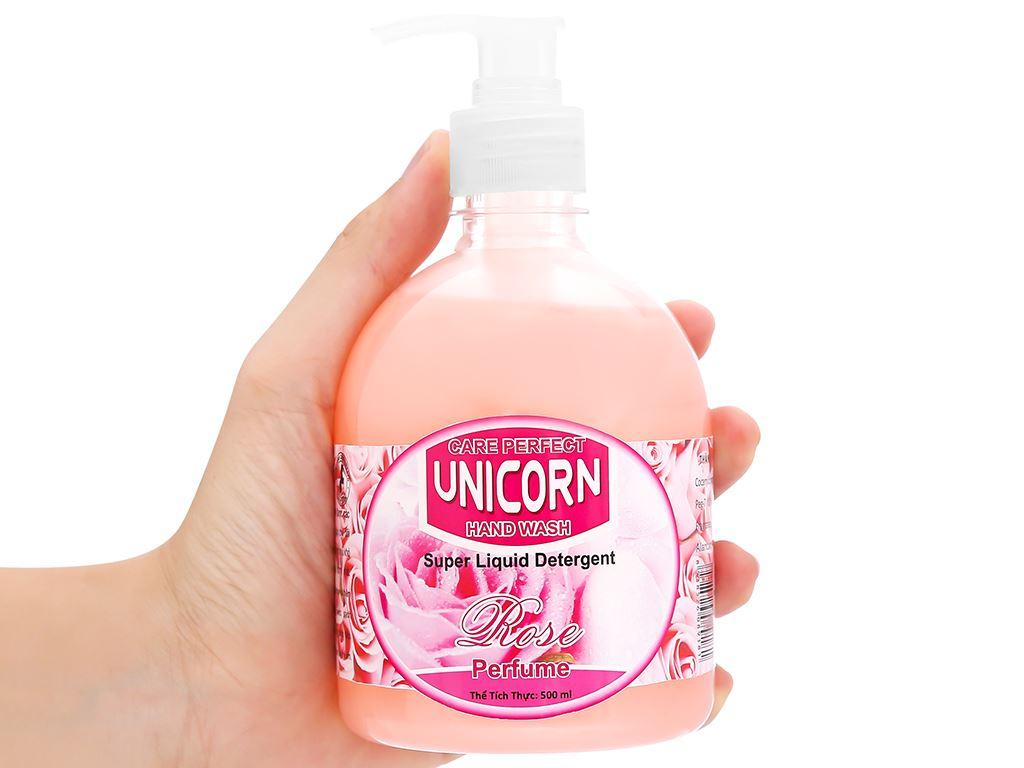 Nước rửa tay Unicorn hương hoa hồng chai 500ml 5