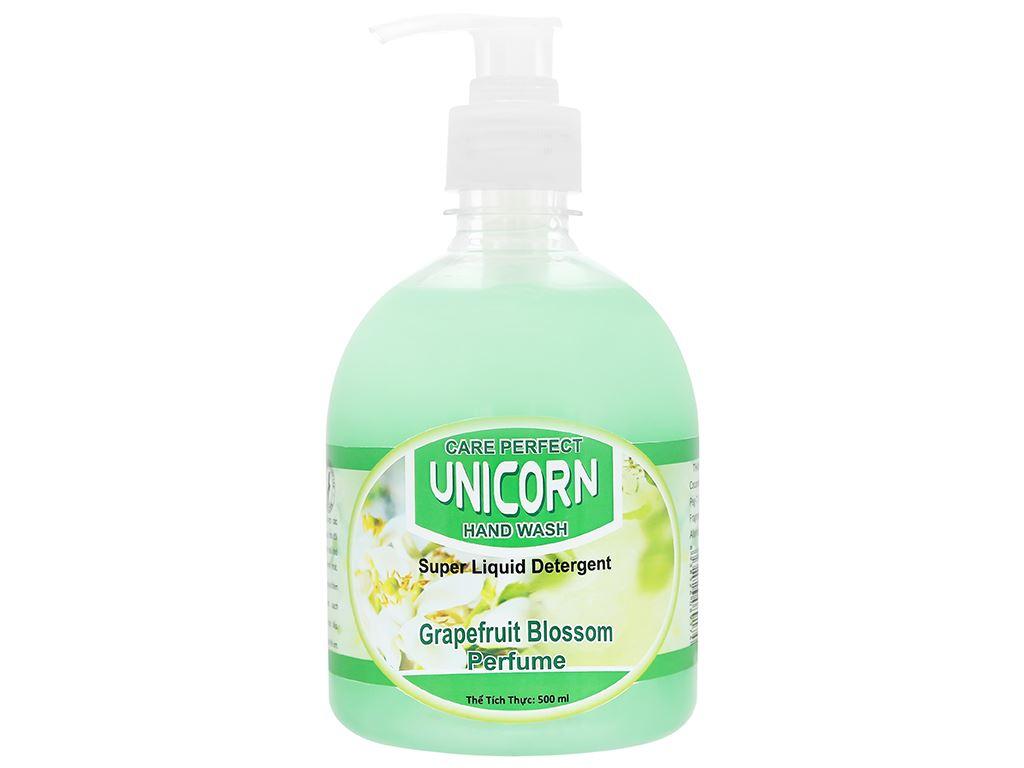 Nước rửa tay Unicorn hương bưởi chai 500ml 1