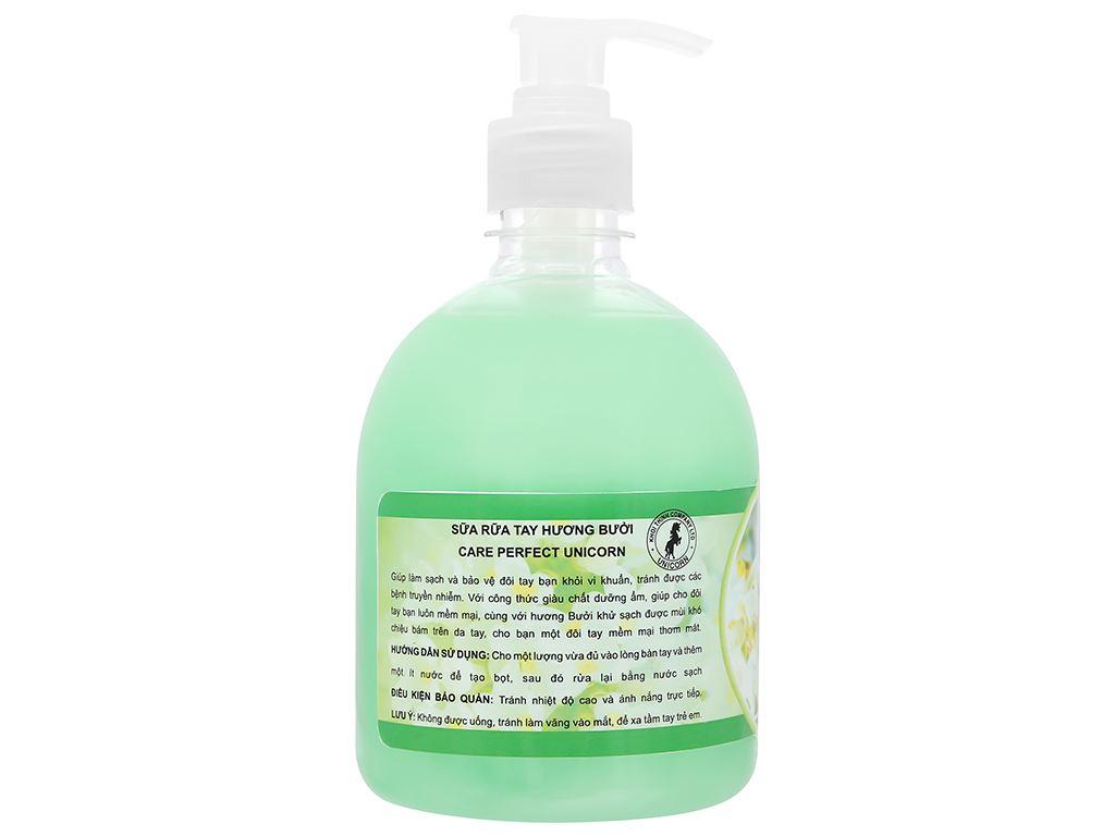 Nước rửa tay Unicorn hương bưởi chai 500ml 2