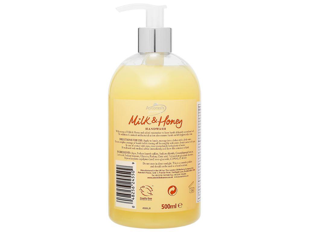 Nước rửa tay Astonish sữa tươi và mật ong 500ml 2