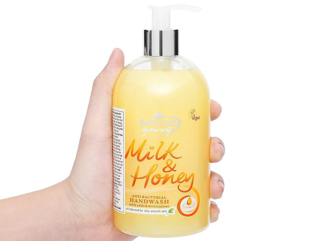Nước rửa tay Astonish sữa tươi và mật ong 500ml 5
