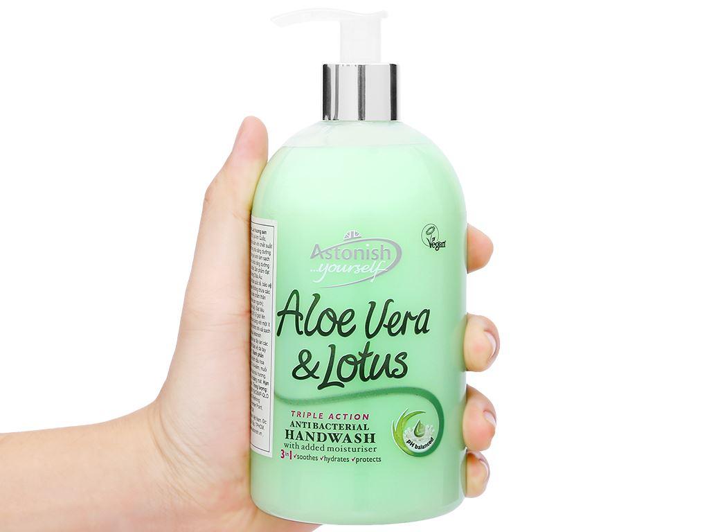 Nước rửa tay Astonish nha đam hương sen 500ml 5
