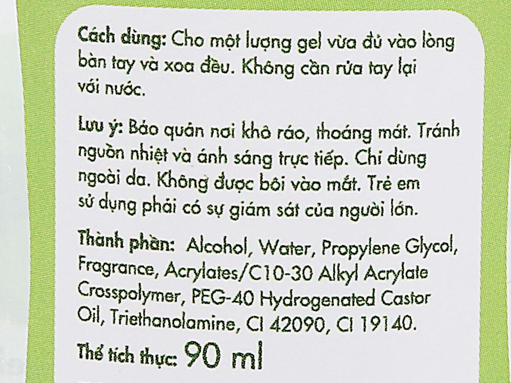 Gel rửa tay khô Kleen hương trà xanh chai 90ml 3