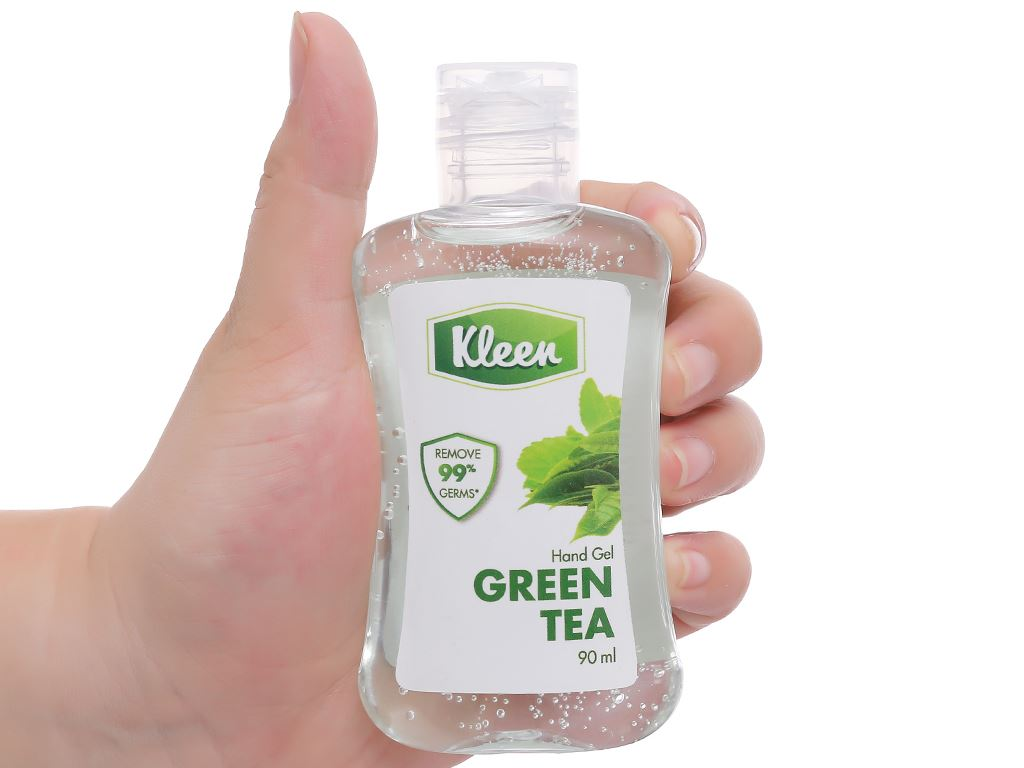 Gel rửa tay khô Kleen hương trà xanh chai 90ml 4