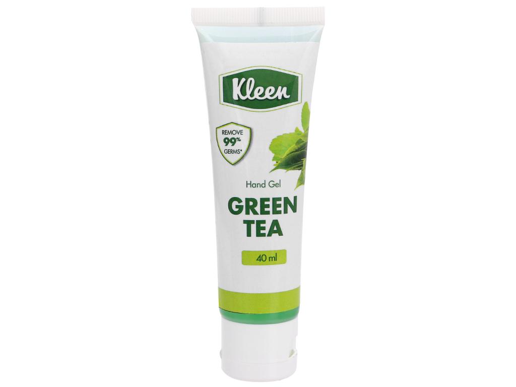 Gel rửa tay khô Kleen hương trà xanh chai 40ml 1